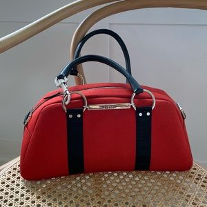 Vintage Christian Dior Red Shoulder Bag